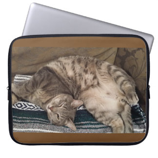 """Comfy Kitty"" Laptop Case"