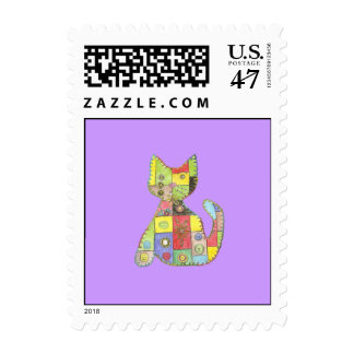 Comfy Kitty Postage Stamp