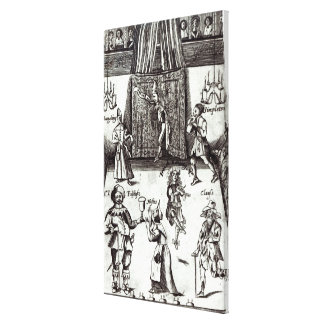 Comic Actors in Performance, 1662 Gallery Wrap Canvas