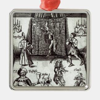 Comic Actors in Performance, 1662 Metal Ornament