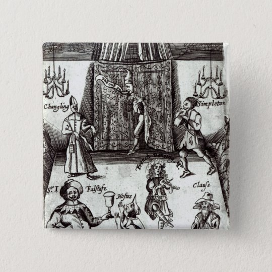 Comic Actors in Performance, 1662 Pinback Button