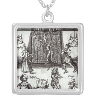 Comic Actors in Performance, 1662 Silver Plated Necklace