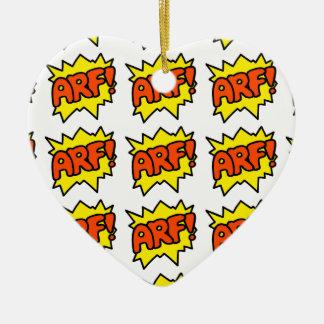 Comic 'Arf!' Ceramic Ornament
