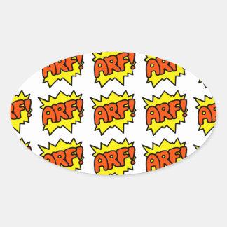 Comic Arf Sticker