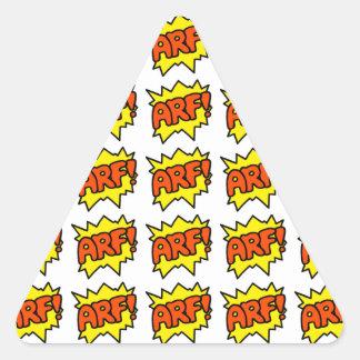 Comic 'Arf!' Triangle Sticker