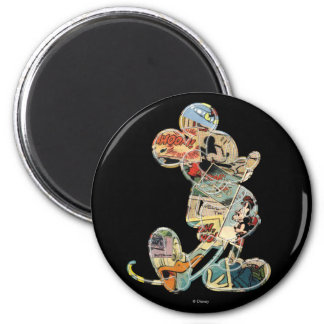 Comic Art Mickey Mouse 2 Inch Round Magnet