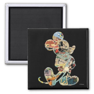 Comic Art Mickey Mouse 2 Inch Square Magnet