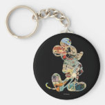 Comic Art Mickey Mouse Basic Round Button Keychain