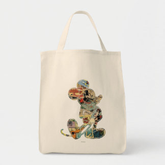 Comic Art Mickey Mouse Grocery Tote Bag