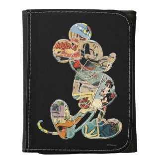 Comic Art Mickey Mouse Leather Trifold Wallets