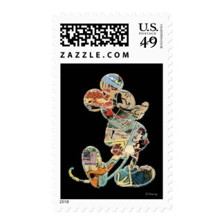 Comic Art Mickey Mouse Postage Stamp