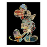 Comic Art Mickey Mouse Poster
