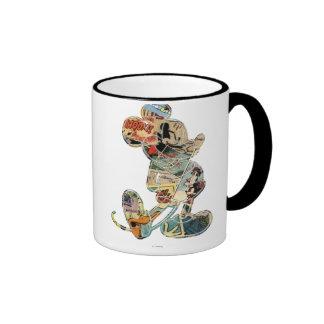 Comic Art Mickey Mouse Ringer Coffee Mug