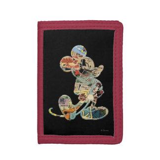 Comic Art Mickey Mouse Tri-fold Wallets