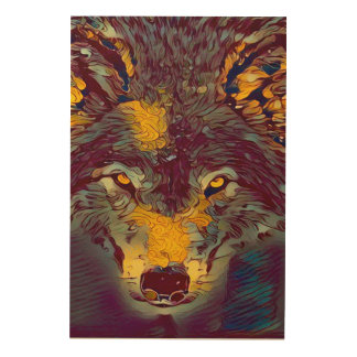 Comic Art Wolf Wildlife Artwork