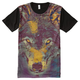 Comic Art Wolf Wildlife Artwork Tee