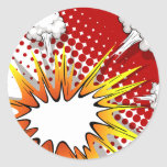 Comic balloon classic round sticker