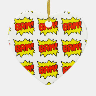 Comic 'Bam!' Ceramic Ornament