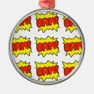 Comic 'Bam!' Metal Ornament