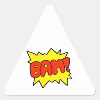 Comic 'Bam!' Triangle Sticker