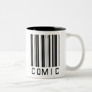 Comic Bar Code Two-Tone Coffee Mug