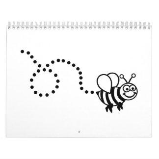 Comic bee calendar