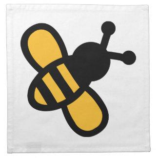Comic bee cloth napkins