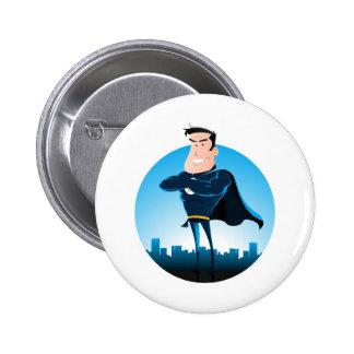 Comic Blue Superhero Pins