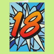 Comic Book 18 Blue Card
