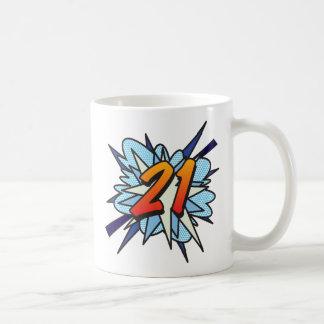 Comic Book 21 Blue Classic White Coffee Mug