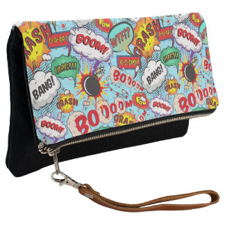 Comic Book Action Bubbles Clutch