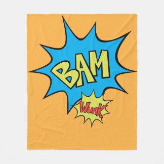 """Comic Book """"Bam"""" Balloon Fleece Blanket"""