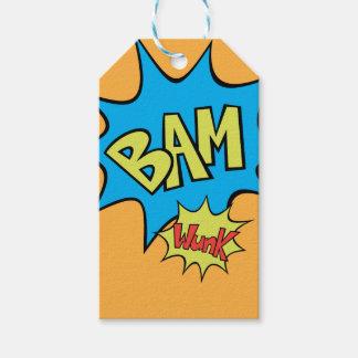 """Comic Book """"Bam"""" Balloon Gift Tags"""