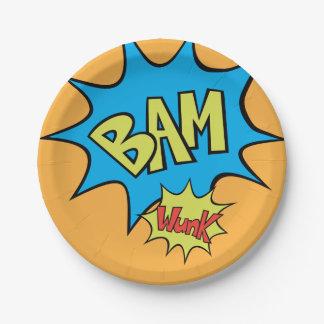 "Comic Book ""Bam"" Balloon Paper Plate"