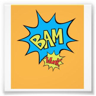 """Comic Book """"Bam"""" Balloon Photo Print"""