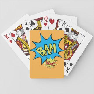 "Comic Book ""Bam"" Balloon Playing Cards"