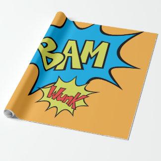 "Comic Book ""Bam"" Balloon Wrapping Paper"