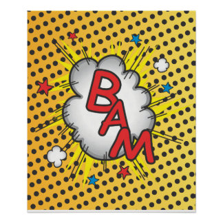 Comic Book Bam explosion poster illustration