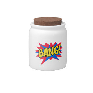 Comic book BANG Candy Dishes