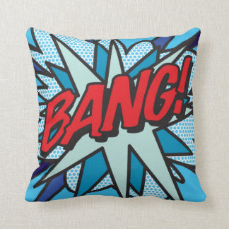 Comic Book BANG! KA-POW! Throw Pillow