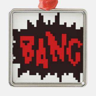 comic book bang metal ornament