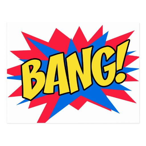 Comic book BANG Postcard | Zazzle - 46.4KB
