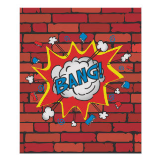 Comic Book Bang poster illustration
