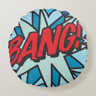 Comic Book BANG! round cushion pillow