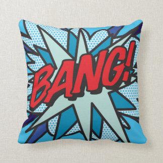 Comic Book BANG! Throw Pillow