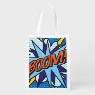 Comic Book BOOM! Grocery Bag