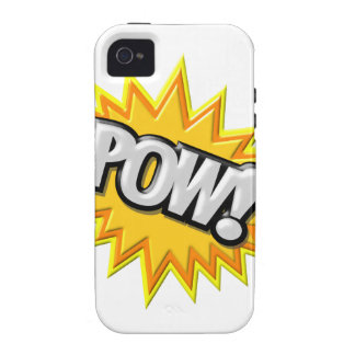 Comic Book Burst Pow 3D Case-Mate iPhone 4 Cover