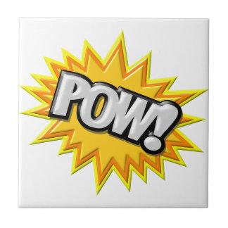 Comic Book Burst Pow 3D Ceramic Tiles