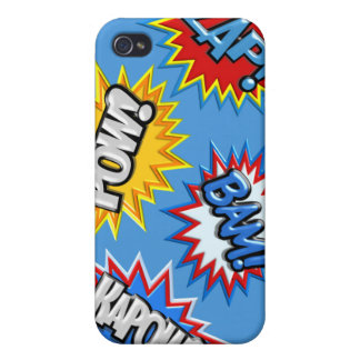 Comic Book Burst Pow 3D Covers For iPhone 4