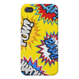 Comic Book Burst Pow 3D iPhone 4 Covers